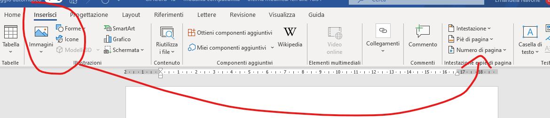 numeri di pagina word