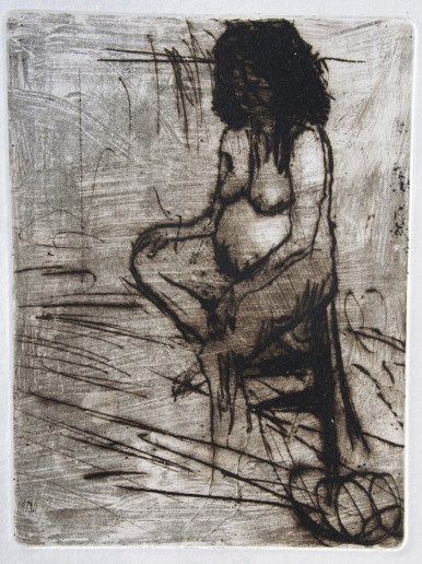 Emanuele Convento - Sara, 2015 ceramolle, maniera pittorica e puntasecca, mm 400 x 310
