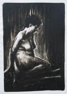 Emanuele Convento - Sara, 2017 monotipo, mm 650 x 450