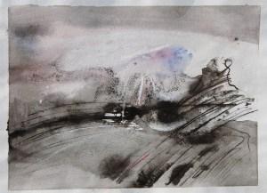 Emanuele Convento - Alta Valvenosta, 2013 china ed acquerello su carta, cm 21 x 28