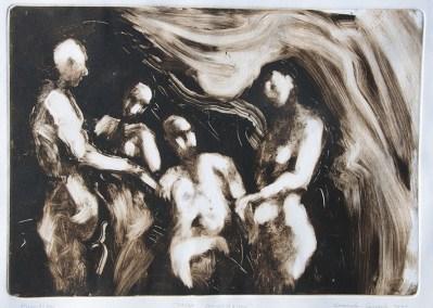 Emanuele Convento - Sacra conversazione, 2011 monotipo, mm 340 x 490