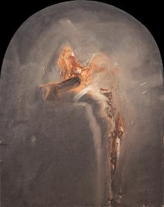 Emanuele Convento - Deposizione, 2014, olio su cartoncino applicato su tavola, cm 80 x 64