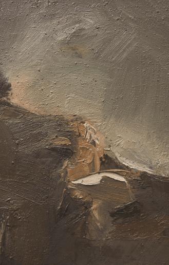 Emanuele Convento - Valtellina, 2015, olio su tavola, cm 30 x 20