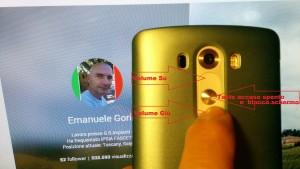 screenshot su LG G3