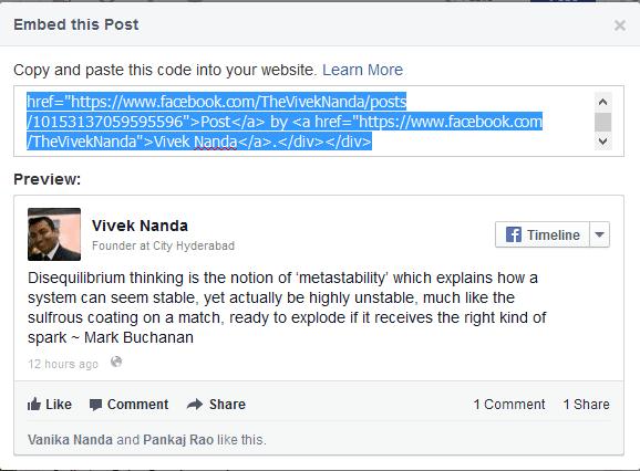 Inserire i post di Facebook sul sito