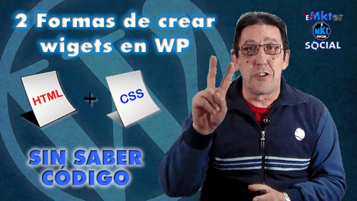 2 Formas de crear widgets en WordPress