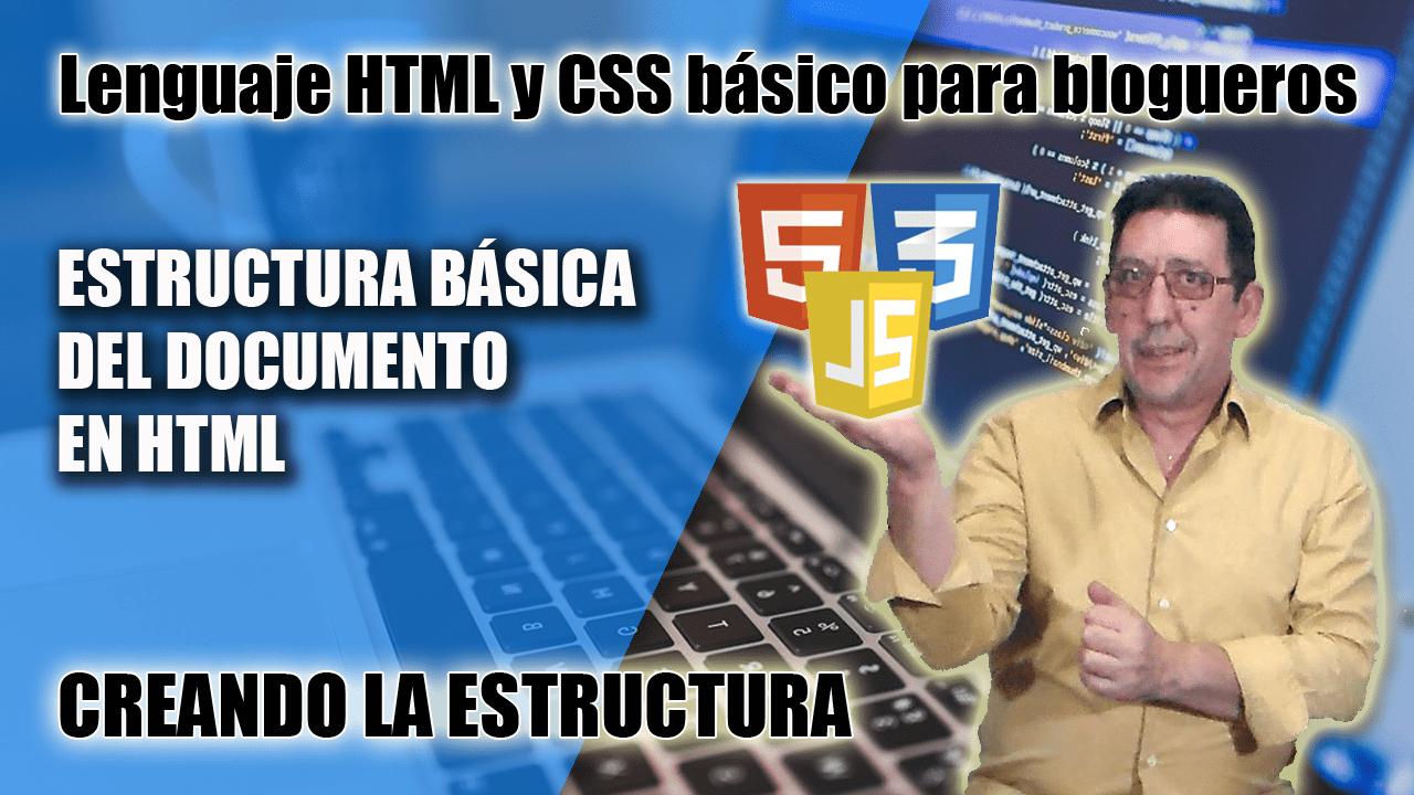 Crear la estructura HTML con Brackets