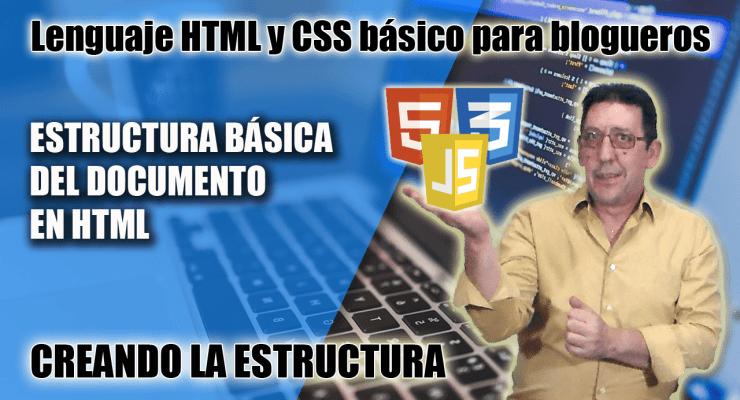 Crear la estructura HTML del documento
