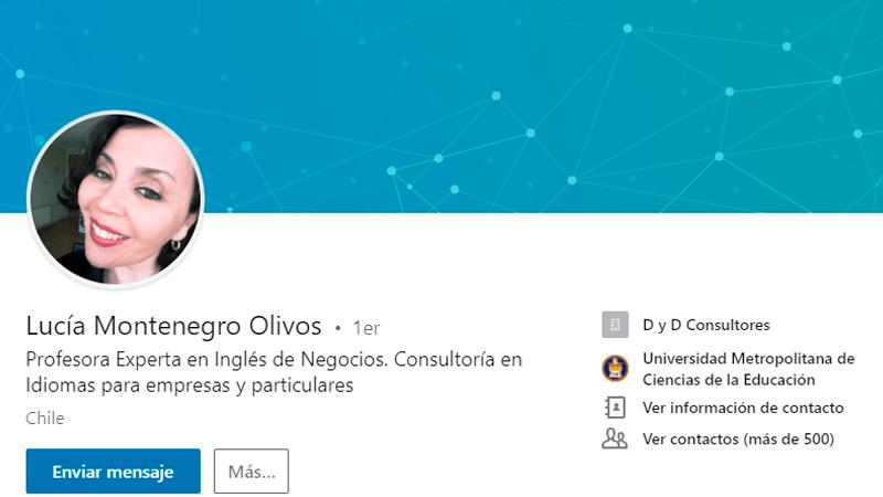 Lucía Montenegro en Linkedln