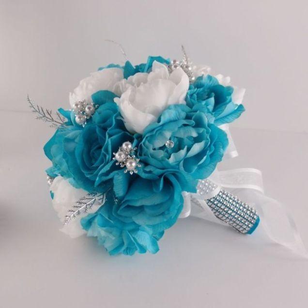 1000 Ideas About Teal Wedding Bouquet On Emasscraft Org