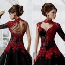 Black And Red Lace Wedding Dress Naf Dresses