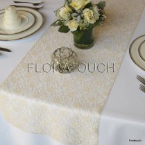 Champagne Lace Table Runner Wedding Table Runner By Floratouch