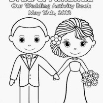 Free Personalized Wedding Coloring Pages