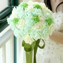 Handmade Wedding Bouquet Artificial Hand Holding Bridesmaid