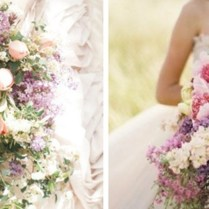 Hot Wedding Trend Cascading Bouquets