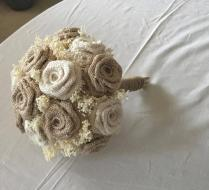 Natural & Ivory Burlap Wedding Bouquets, Rustic Weddings, Bouquets