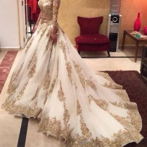 Online Buy Wholesale Gold White Wedding Dress From China Gold
