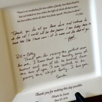 Personal Letter To Parents On A Platter Wedding By Customsepia