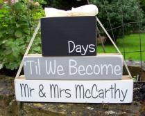 Personalised Wedding Countdown Blocks