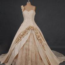 Short Wedding Dresses Beige