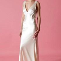 Slip Dress Wedding Dresses Glamorous Wedding Gown Slips