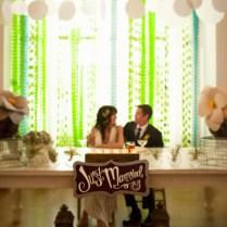 Small Wedding Reception Ideas Green Theme