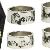 The Nightmare Before Christmas His And Her Wedding Ring Set With