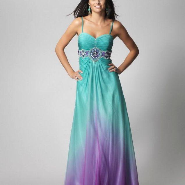 Turquoise And Purple Wedding Dresses