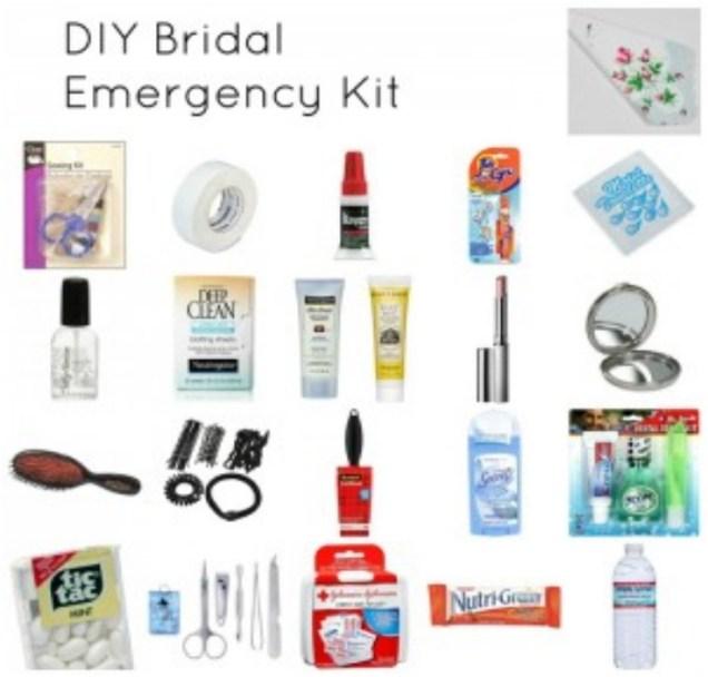 Wedding Day Emergency Kit For Brides