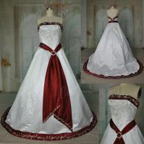 Wedding Dresses With Red And Silver