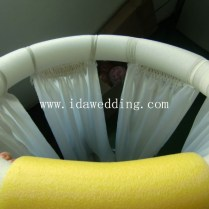 White Transparent Ceiling Drape Fabric Decorate Ceiling For