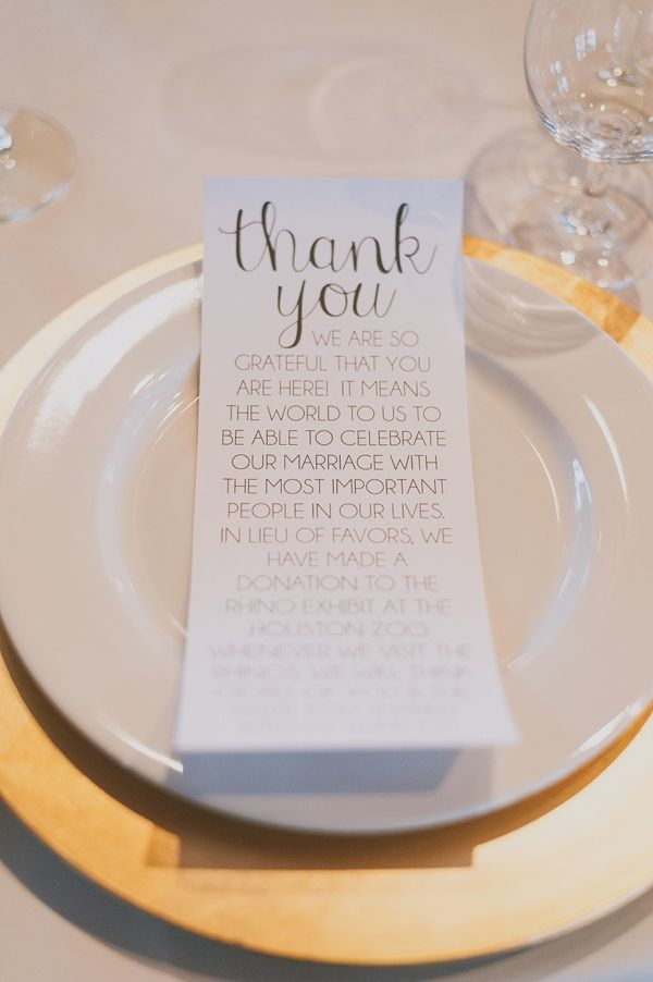 Charity Wedding Favors