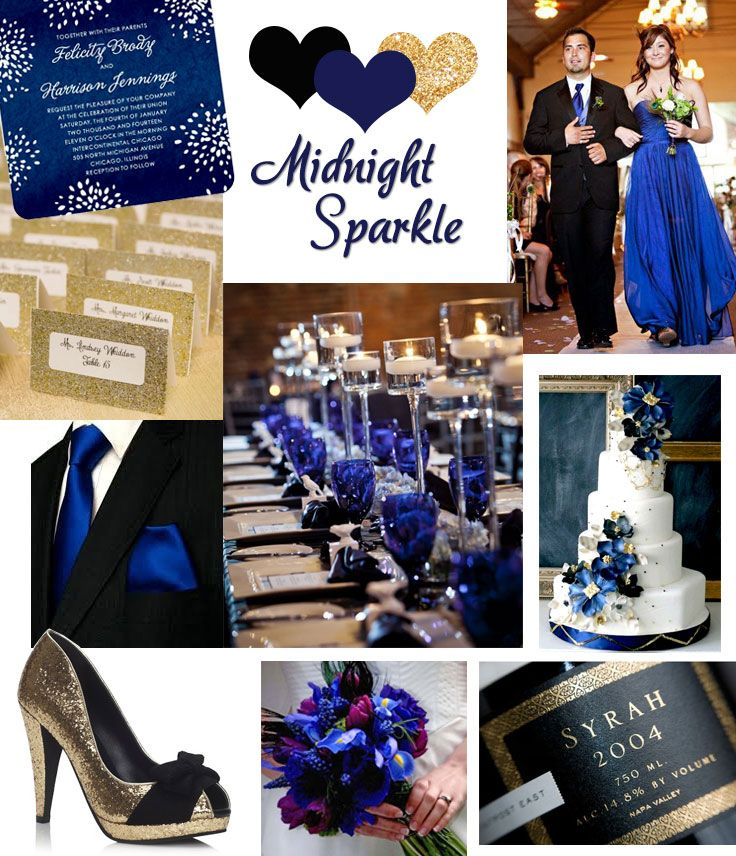 Midnight Blue Wedding Decorations: Midnight Blue And Gold Wedding