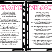 1000 Images About Beginning Of The Year Welcome Letter On