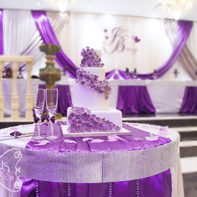 Wedding White Theme: White Purple Wedding Theme