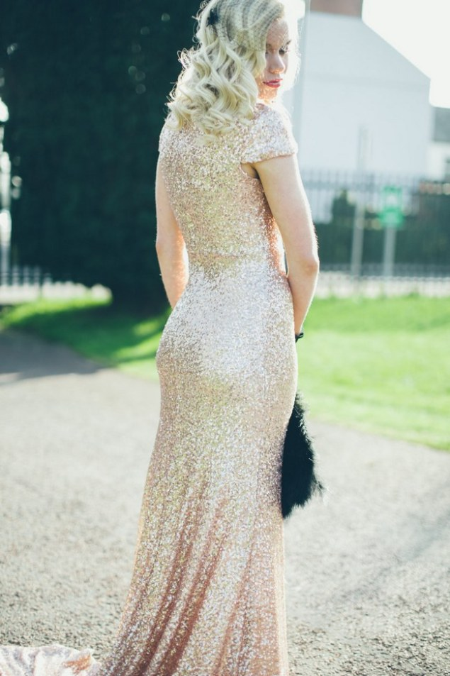 10 Gorgeous, Glittery Sequin Wedding Dresses