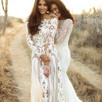 1 Lace Boho Wedding Dress Ideas (15) Trends For Girls & Womens