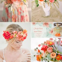 2016 Spring Wedding Color Trends Chapter Two Stunning Peach