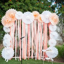 20 Diy Paper Wedding Backdrops