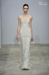 26 Off Discount Column Wedding Dress Spaghetti Straps Floor
