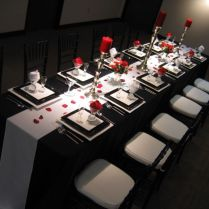 35 Black And White Wedding Table Settings