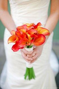 39 Bright Orange Bridal Bouquets