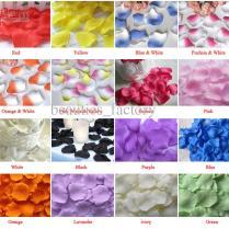 50 Bags Silk Rose Petals Wedding Favour Party Flower Decoration