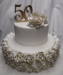 50th Anniversary Cake Designs Endearing 50th Wedding Anniversary