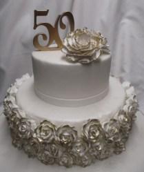 50th Anniversary Cake Designs Endearing 50th Wedding Anniversary