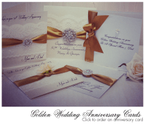 50th Wedding Anniversary Card, Hand Made Cards Of Chart For