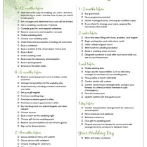 8 Best Images Of 12 Month Wedding Planner Printable
