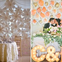 8 Gorgeous Pipe & Drape Wedding Backdrops