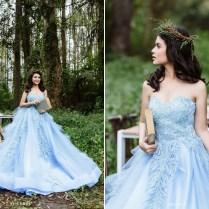Alice In Wonderland Blue Wedding Dress
