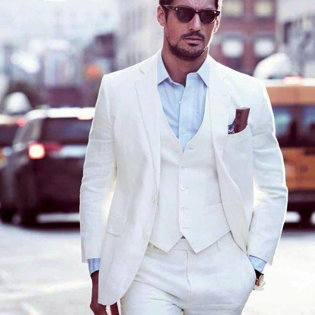 Aliexpress Com Buy New Arrival Ivory Grooms Tuxedos White